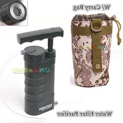 Portable Soldier Water Filter Purifier Pump Outdoor Camp Tra