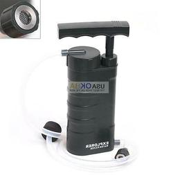 Portable Soldier Water Filter Purifier Pump Outdoor Camping