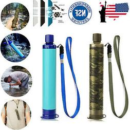 portable survival water filter straw purifier travel