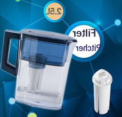 Portable Water Filter Pitcher with Carbon Block Replace Cycl