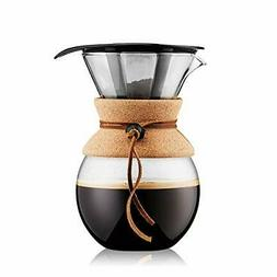 Bodum 11571-109 Pour Over 1 L Coffee Maker with Permanent Fi