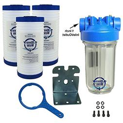 KleenWater Premier Whole House Water Filter System, Transpar
