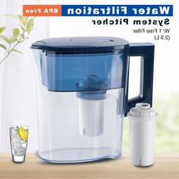 Pro Water Pitcher Filter 2.5L Capacity with 1 Filter BPA Fre