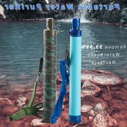 Professional Water Filter Straw Emergency Life Survival Port