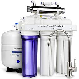 6-Stage 75 GPD UV Ultra Violet Reverse Osmosis RO Water Syst
