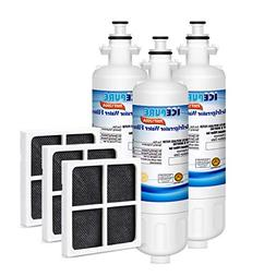 Icepure Refrigerator Water Air Filter Compatible With LG LT7