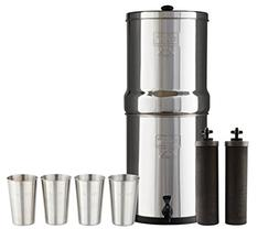 Bundle Includes Royal Berkey Water Filter System with 2 Blac