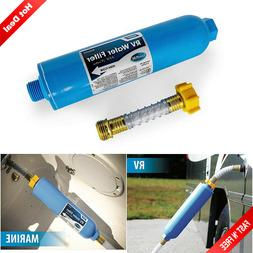 Rv Water Filter W/ Hose Protector Inline Camper Travel Trail