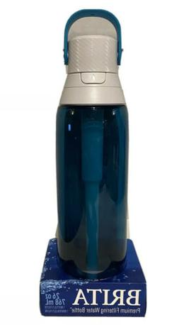 Sea Glass Durable 26 Oz Filtering Water Bottle W/ 1 Replacea