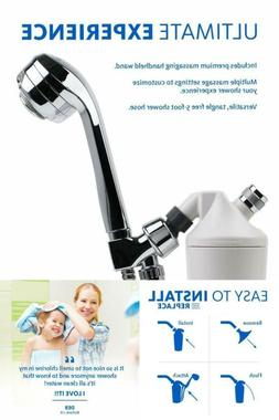 Shower Water Filter Systems with 5' Wand Massaging Shower He