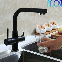 Rolya Solid Brass Alba Black Kitchen Faucet Osmosis 3 Way Wa