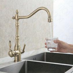 Rolya Solid Brass Brushed Nickel Kitchen Faucet Osmosis 3 Wa