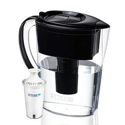 Brita 6 Cup Space Saver BPA Free Water Pitcher with 1 Filter