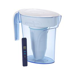 Zero Water Space Saver 6 Cup Water Filtration Pitcher, Blue,