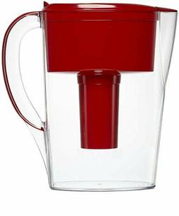 Brita Space Saver Water Filter Pitcher, Red, 6-Cup