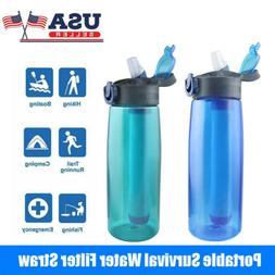 Sports Water Bottle BPA Free With Filter Outdoor Portable Tr