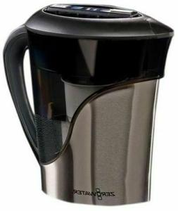 Zero Water Stainless Steel Filter Pitcher  5 Stage -  8 Cup