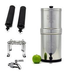 Travel Berkey Stainless Steel Water Filtration System with 2