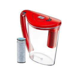 Brita® 10-Cup Stream Pitcher in Red- NEW