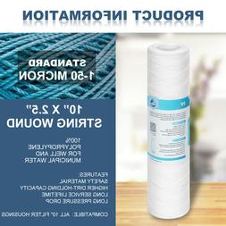 String Wound Sediment Water Filter Cartridge Standard 2.5x10