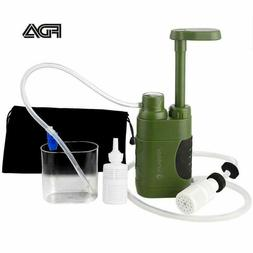 SurviMate Portable Water Filter Pump for Hiking Camping Trav
