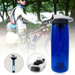 Survival Emergency Filter Cup Mini Water Filter Bottle Hikin
