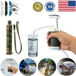 Survival Military Water Filter Purifier Drinking Travel Camp