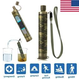 Survival Water Filter Straw Personal Purifier Filtration Eme