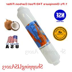 """T40 Inline Carbon Filter Coconut 2""""X10"""" RO Water Filter Syst"""