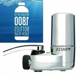 Brita Tap Faucet Mount Water Filtration System w/ Filter Cha