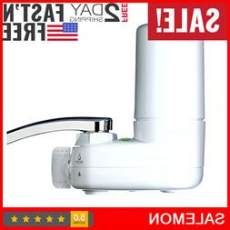 Tap Water Filter System Water Faucet Filtration w/ Filter Ch