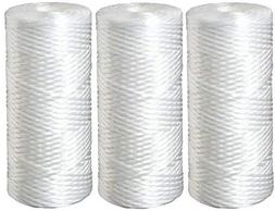 Three 5 Micron Polypropylene String Wound Water Filter Cartr