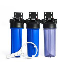Three Stage Whole House Water Filtration Housing Kit 3/4in P