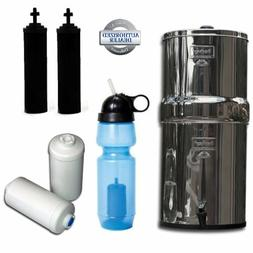 Travel Berkey Water Filter System, w/2 Black Filters, 2 Fluo