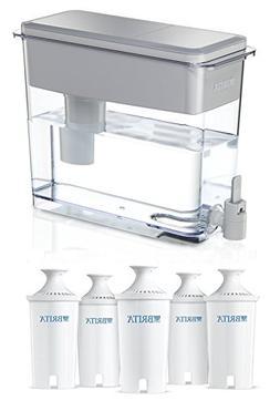Brita UltraMax Water Filter Dispenser, White, 18 Cup with 5