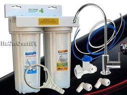 Under Sink 2 Stage Water Filter System all Lead Free NSF Com