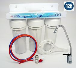 Under Sink 3 Stage Water Filter System all Lead Free NSF Cer