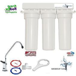 Under Sink Triple Water Filtration - Carbon, Fluoride Arseni