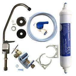 Undersink Drinking Water Tap Filter Kit System Including Fau