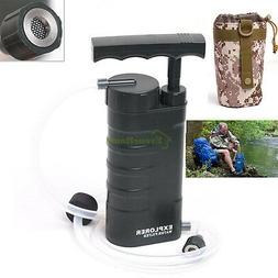 US Nanofiltration Water Filter Purifier Pump Outdoor Camping