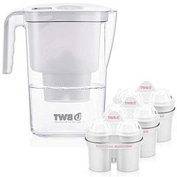BWT Vida Water Filter Pitcher With 3 Bonus 60 Day Filters, A