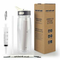 Water Bottle BPA Free Filter Straw for Camping,Hiking,Backpa