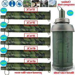 Water Bottle Portable Water Filter Straw&Purifiers for Campi