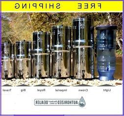 Berkey Water Filter  Big Travel Royal Imper Crown Light EMPT