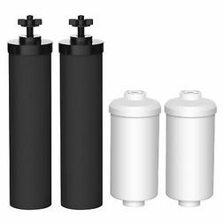 AQUA CREST Water Filter Compatible with Black Filters BB9-2