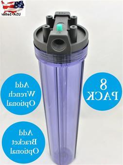 "Water Filter Housing 2.5"" x 20"" Pressure Cap Release Pack of"