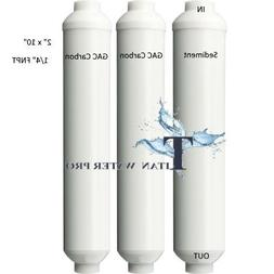 Water Filter Inline Replacement Portable Mini RO Water Filte