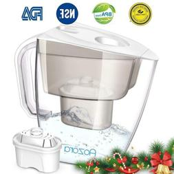 Aozora Water Filter Pitcher 10 Cup Capacity BPA Free with 4-