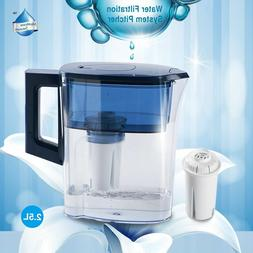 Water Filter Pitcher 2.5L BPA Free Lockable Lid Leakproof Pa