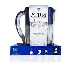 Brita Water Filter Pitcher, Dark Blue, 6 Cup